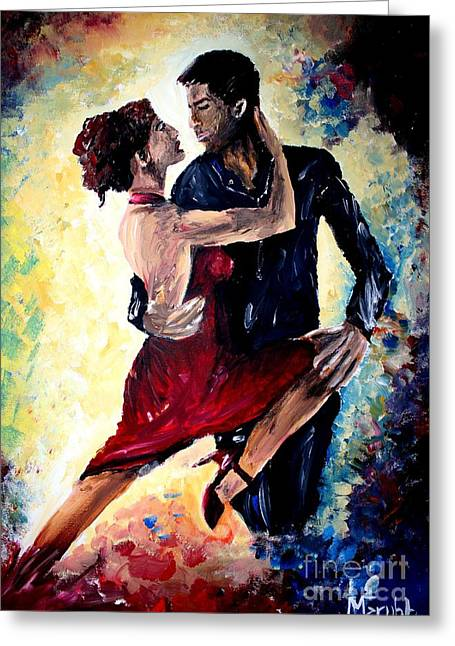 Get Mixed Media Greeting Cards - Dancing In The Moonlight Greeting Card by Mike Grubb