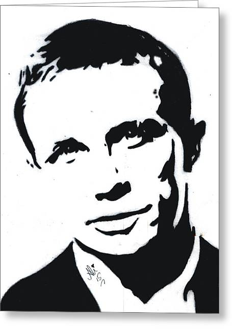 Classic Hollywood Drawings Greeting Cards - Daniel Craig Greeting Card by Bobby Dar