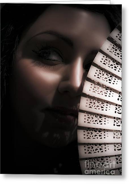 Vamp Greeting Cards - Dark And Mysterious Woman Greeting Card by Ryan Jorgensen