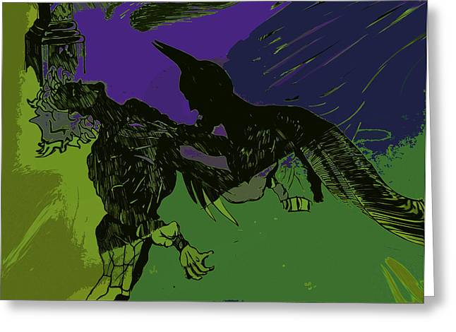 Comic Book Character Paintings Greeting Cards - Dark Knight  Greeting Card by Jazzboy