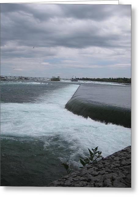 Niagara River Greeting Cards - Dark River Falls Greeting Card by Brandie Marshall