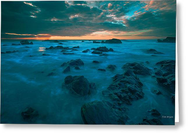 Cambria Greeting Cards - Dark Rock Garden...... Cambria Greeting Card by Tim Bryan
