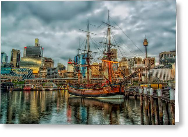 Darling Harbour Greeting Cards - Darling Harbour - Sydney Australia Greeting Card by Mountain Dreams