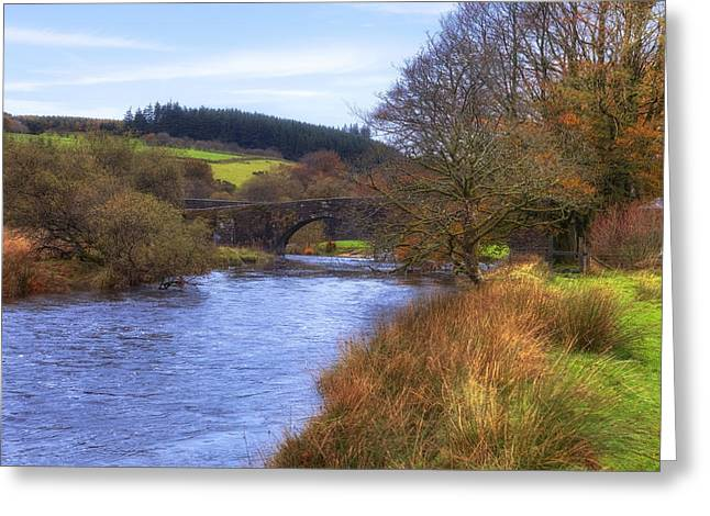 Devon Greeting Cards - Dartmoor - Two Bridges Greeting Card by Joana Kruse