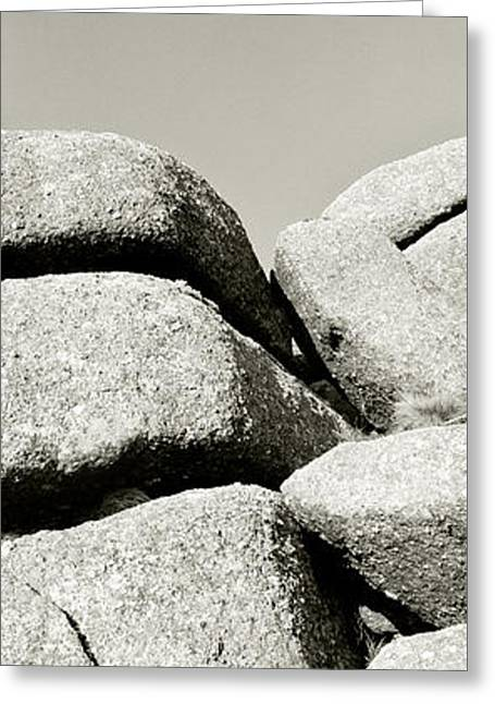 Abstract Rain Greeting Cards - Dartmoor Granite Rock Formation Greeting Card by Ubud High