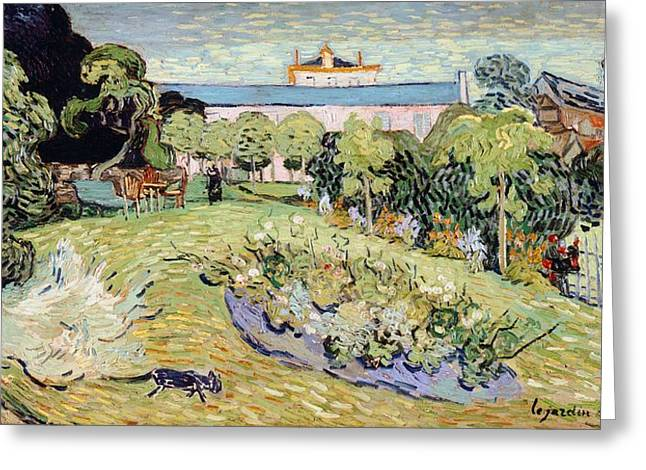 Contemporary Symbolism Greeting Cards - Daubignys garden Greeting Card by Vincent van Gogh