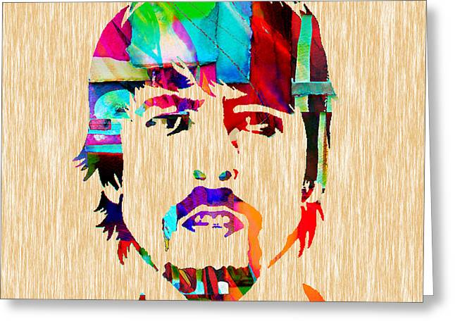 Foo Fighters Greeting Cards - Dave Grohl Foo Fighters Greeting Card by Marvin Blaine