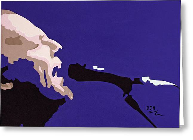 Hall Of Famer Greeting Cards - David Gilmour Greeting Card by Dennis Nadeau