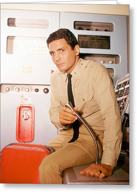 Voyage Greeting Cards - David Hedison in Voyage to the Bottom of the Sea  Greeting Card by Silver Screen