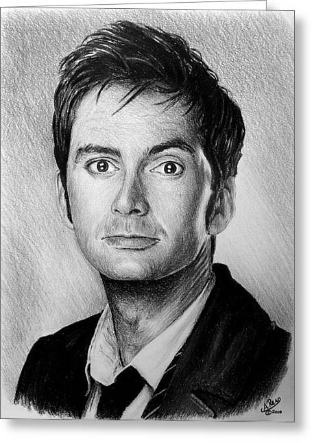 David Drawings Greeting Cards - David Tennant Greeting Card by Andrew Read