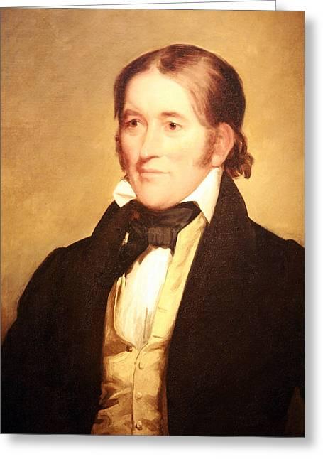 Cora Wandel Greeting Cards - Davy Crockett -- Frontiersman To Congressman To The Alamo Greeting Card by Cora Wandel