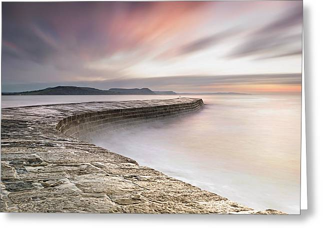 Dawn At The Cobb Greeting Card by Chris Frost