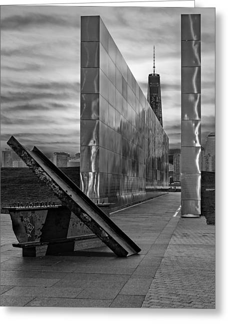 September 11 Wtc Greeting Cards - Dawn At The Empty Sky Memorial Greeting Card by Susan Candelario