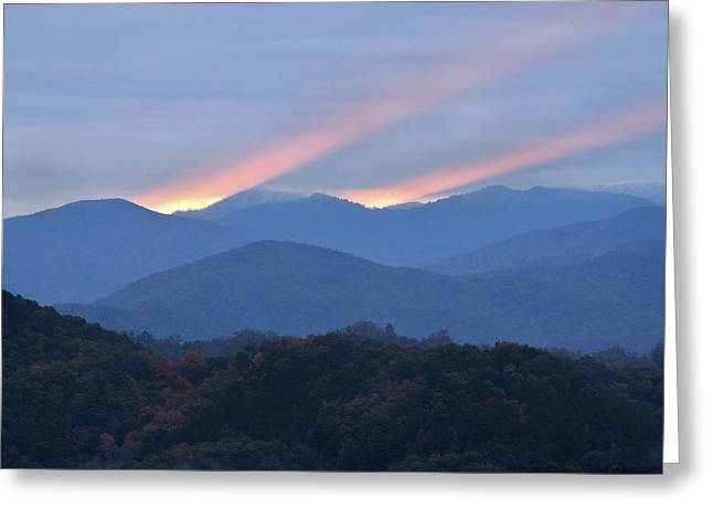 Gatlinburg Tennessee Greeting Cards - Dawn of Gatlinburg Greeting Card by Nian Chen