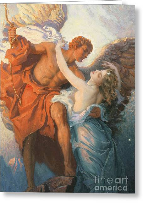 Couple Embracing Greeting Cards - Day and the Dawnstar Greeting Card by Herbert James Draper