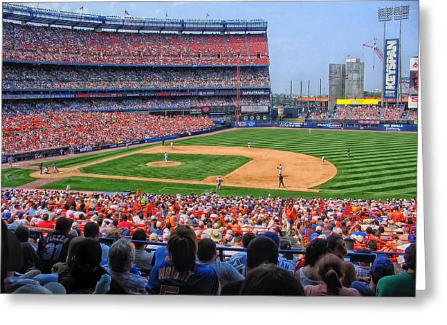 Day Game At Shea Greeting Card by Mountain Dreams