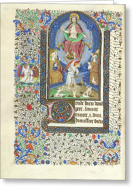 Day Of Judgement Greeting Card by British Library