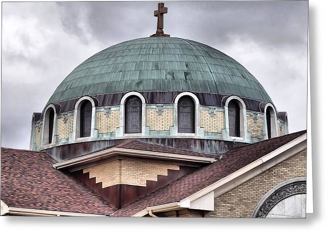 Rosary Greeting Cards - Dayton Mosque Greeting Card by Dan Sproul