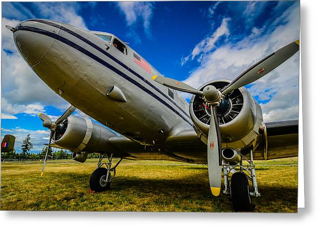 Heritage Foundation Greeting Cards - DC 3 Pan American Airways  Greeting Card by Puget  Exposure