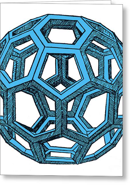 Divine Proportions Greeting Cards - De Divina Proportione, Icosahedron Greeting Card by Science Source