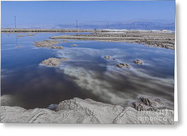 Dead Sea Greeting Cards - Dead Sea landscape Greeting Card by Dan Yeger