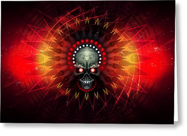 Precurser Greeting Cards - Deadstep - Hellfire Remix Greeting Card by George Smith