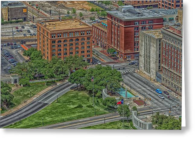 Downtown Books Greeting Cards - Dealey Plaza - John Kennedy Assassination Site Dallas Greeting Card by Mountain Dreams