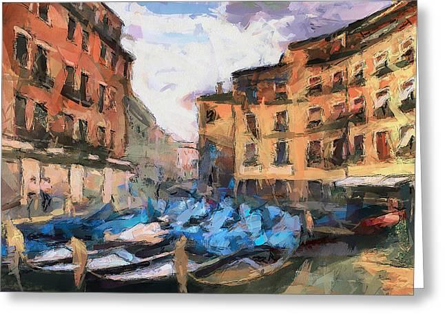 Gondolier Greeting Cards - Dear Venice Greeting Card by Yury Malkov