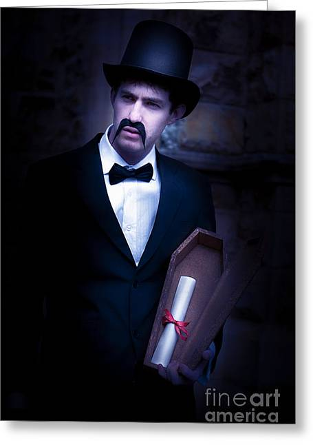 Death Message Greeting Card by Jorgo Photography - Wall Art Gallery