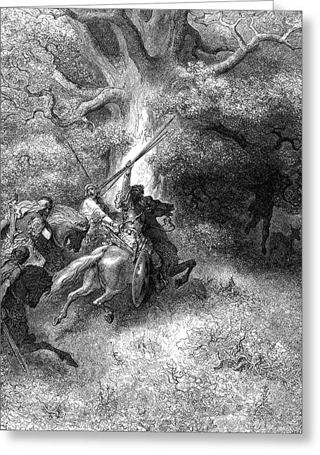 Dore Greeting Cards - Death of Absalom Greeting Card by Gustave Dore