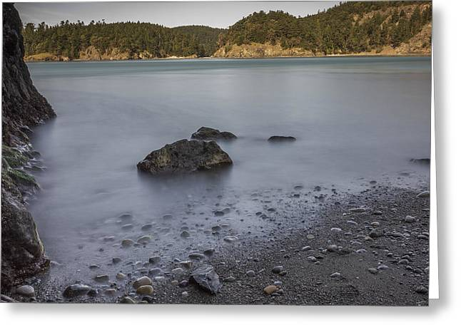 Deception Beach Greeting Cards - Deception Pass Greeting Card by Calazones Flics