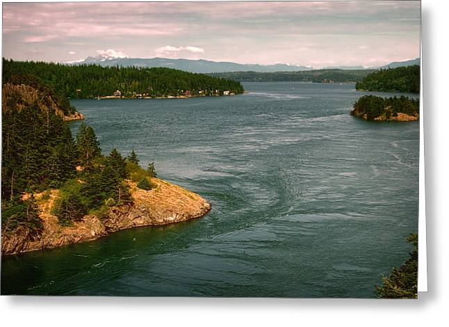 Whidbey Island Greeting Cards - Deception Pass Greeting Card by Joan Carroll