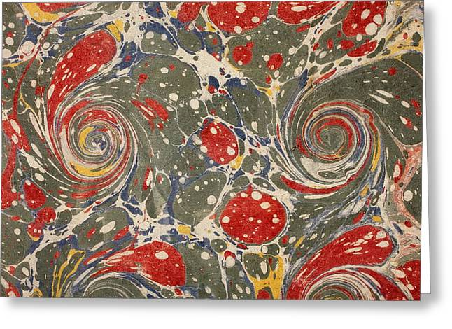 Pattern Books Greeting Cards - Decorative Endpaper From A Nineteenth Greeting Card by Ken Welsh