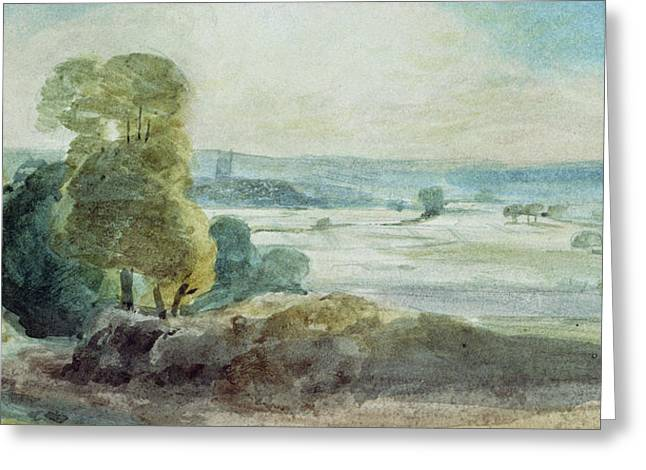 Vale Greeting Cards - Dedham Vale Greeting Card by John Constable