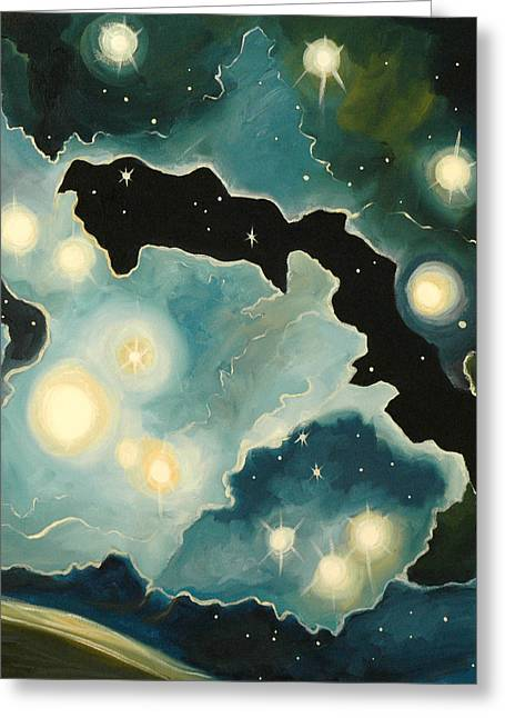 Outer Space Paintings Greeting Cards - Deep Space Greeting Card by Cedar Lee