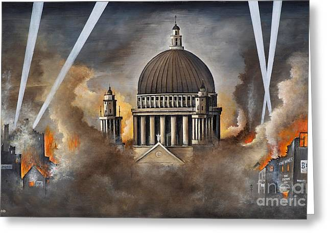 Ww11 Paintings Greeting Cards - Defiance Greeting Card by Ken Wood