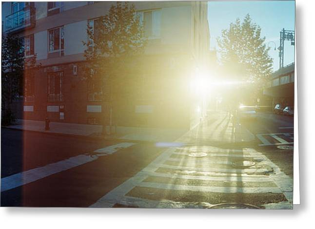 Lower East Side Greeting Cards - Delancey Street At Sunrise, Lower East Greeting Card by Panoramic Images