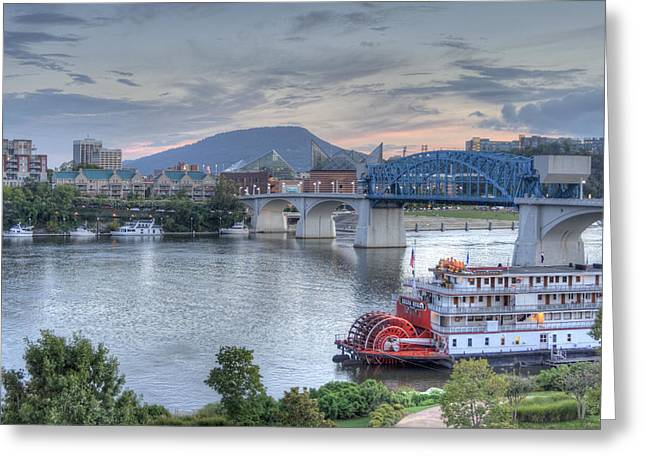Tennessee Landmark Greeting Cards - Delta Queen Greeting Card by David Troxel
