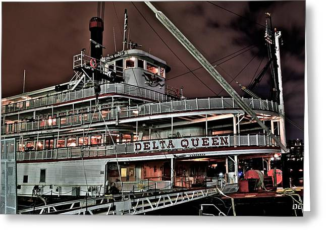 Chattanooga Tn Greeting Cards - Delta Queen Greeting Card by Frozen in Time Fine Art Photography