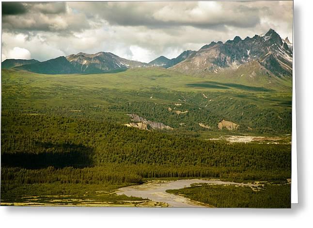Analog Greeting Cards - Denali Glacial River in Alaska Greeting Card by Mountain Dreams