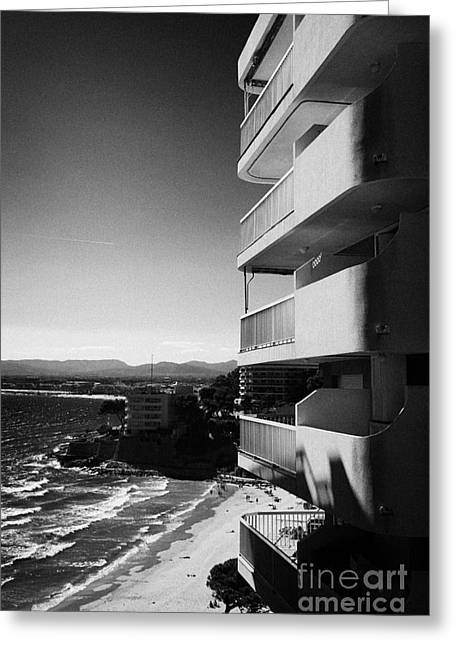 Sea View Greeting Cards - Densely Packed Salou Waterfront Properties On The Costa Dorada Catalonia Spain Greeting Card by Joe Fox