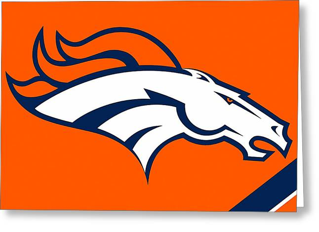 Pig Greeting Cards - Denver Broncos Greeting Card by Marvin Blaine
