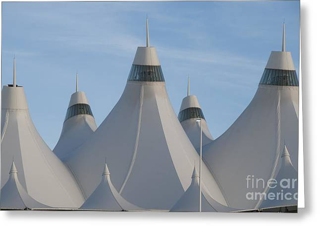 Airport Greeting Cards - Denver International Airport Greeting Card by Juli Scalzi