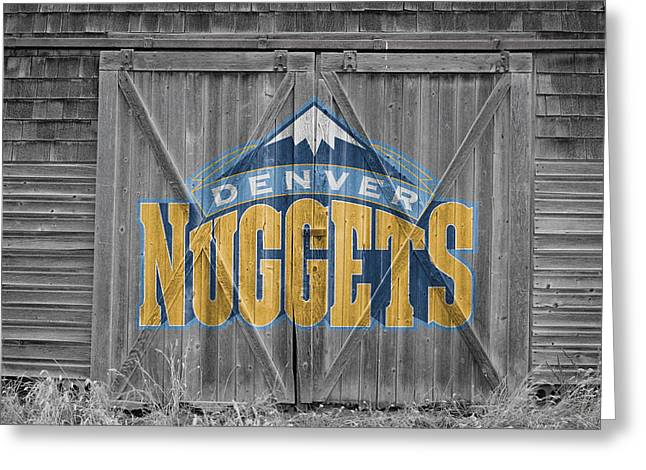 Denver Nuggets Greeting Cards - Denver Nuggets Greeting Card by Joe Hamilton