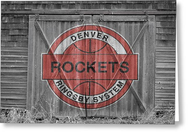 Denver Nuggets Greeting Cards - Denver Rockets Greeting Card by Joe Hamilton