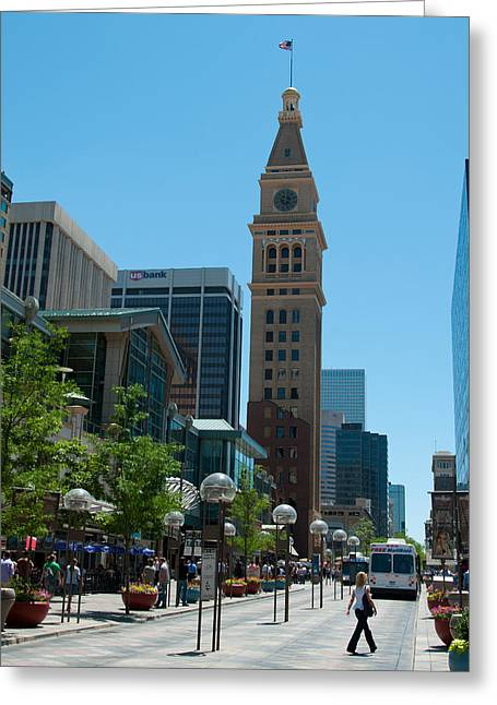 16th Street Mall Greeting Cards - Denver Street Scenes Greeting Card by Lee Roth
