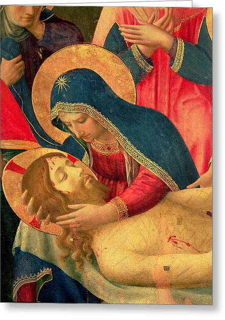 Lamentation Greeting Cards - Deposition from the Cross Greeting Card by Fra Angelico
