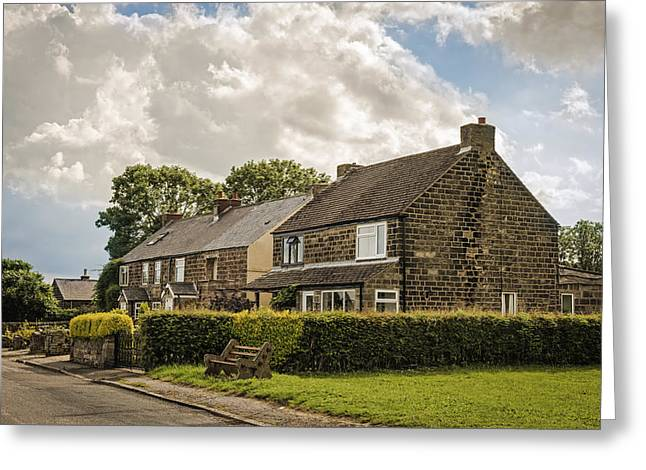 Country Cottage Greeting Cards - Derbyshire Cottages Greeting Card by Amanda And Christopher Elwell