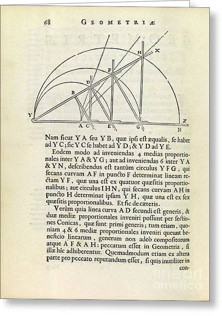 Geometric Artwork Greeting Cards - Descartes Mesolabe Greeting Card by Royal Astronomical Society