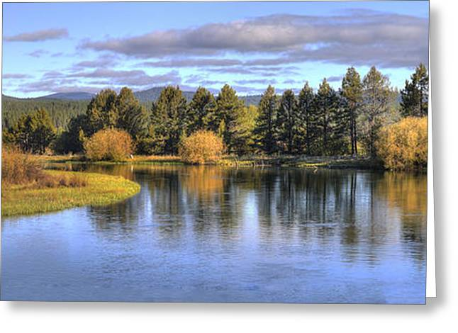Sunriver Greeting Cards - Deschutes River Greeting Card by Twenty Two North Photography